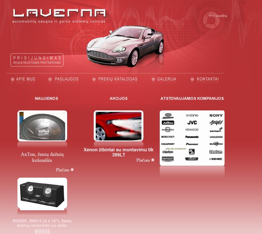 Laverna puslapis nuo 2008 metu.
