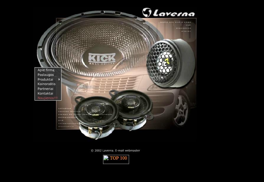 Laverna puslapis nuo 2002 metų.